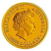 Australia 30000 Dollars Piglet 2007 ELIZABETH II AUSTRALIA 30000 DOLLARS IRB coin obverse
