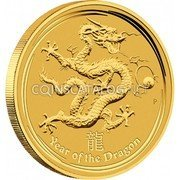 Australia 30000 Dollars Year of the Dragon 2012 KM# 1678 YEAR OF THE DRAGON P coin reverse