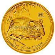 Australia 30000 Dollars Year of the Mouse 2008 YEAR OF THE MOUSE P coin reverse