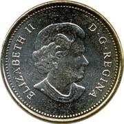 Canada 5 Cents Beaver 2006 KM# 491b ELIZABETH II D ∙ G ∙ REGINA coin obverse