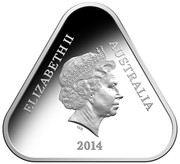 Australia 5 Dollars 100 Years Of Anzac 2014 KM# 2171 ELIZABETH II AUSTRALIA 2014 IRB coin obverse