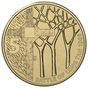 Australia 5 Dollars 50th Anniversary of The Battle of Long Tan 2016  5 DOLLARS BATTLE OF LONG TAN 1966 coin reverse