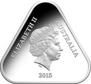 Australia 5 Dollars ANZAC 2015 KM# 2187 ELIZABETH II AUSTRALIA IRB 2015 coin obverse