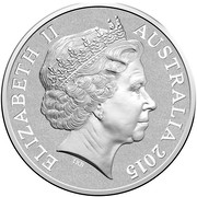 Australia 5 Dollars Australian Lighthouses - Aids to Navigation 2015 KM# 2198 ELIZABETH II AUSTRALIA 2015 IRB coin obverse