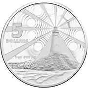 Australia 5 Dollars Australian Lighthouses - Aids to Navigation 2015 KM# 2198 5 DOLLARS 1 OZ .999 AG coin reverse