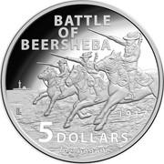 Australia 5 Dollars Battle of Beersheba 2017 BATTLE OF BEERSHEBA 1917 5 DOLLARS 1 OZ .999 AG coin reverse