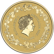 Australia 5 Dollars Distinctly Australian 2015 ELIZABETH II AUSTRALIA 2015 5 DOLLARS IRB coin obverse