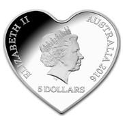 Australia 5 Dollars Eternal Love Heart (Colorized) 2016 ELIZABETH II AUSTRALIA 2016 5 DOLLARS IRB coin obverse