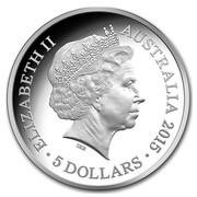 Australia 5 Dollars Longest Reigning Monarch 2015 ELIZABETH II AUSTRALIA 2015 5 DOLLARS IRB coin obverse