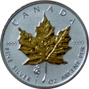 Canada 5 Dollars Maple Leaf 2013 Snake Privy KM# 625a CANADA 9999 9999 FINE SILVER 1 OZ ARGENT PUR coin reverse
