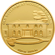 Australia 5 Dollars Old Government House 2011 KM# 1641 OLD GOVERMENT HOUSE AND DOMAIN 1/25 OZ. 9999 AU coin reverse