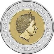 Australia 5 Dollars Saturn 2017 ELIZABETH II AUSTRALIA 2017 5 DOLLARS IRB coin obverse