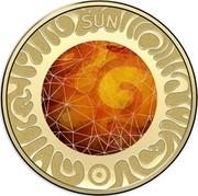 Australia 5 Dollars Sun 2017 SUN coin reverse