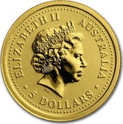 Australia 5 Dollars The Australian Nugget 2001 ELIZABETH II AUSTRALIA 5 DOLLARS IRB coin obverse