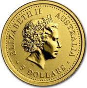 Australia 5 Dollars The Australian Nugget 2007 ELIZABETH II AUSTRALIA 5 DOLLARS IRB coin obverse