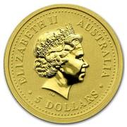 Australia 5 Dollars The Monkey (Colorized) 2004 ELIZABETH II AUSTRALIA 5 DOLLARS IRB coin obverse