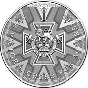 Australia 5 Dollars Victoria Cross For Australia 2014 KM# 2186 THE VICTORIA CROSS FOR AUSTRALIA FOR VALOUR coin reverse