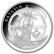 Australia 5 Dollars VOC Batavia - Drama On The High Seas 2015  BATAVIA 1 OZ .999 AG 90 80 70 60 50 40 30 20 10 0 10 20 30 40 50 60 70 80 90 A VOC coin reverse
