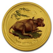 Australia 5 Dollars Year of the Ox (Colorized) 2009 YEAR OF THE OX P coin reverse