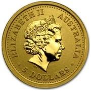 Australia 5 Dollars Year of the Pig 2007 ELIZABETH II AUSTRALIA 5 DOLLARS IRB coin obverse