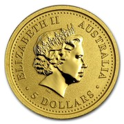 Australia 5 Dollars Year of the Pig (Colorized) 2007 ELIZABETH II AUSTRALIA 5 DOLLARS IRB coin obverse