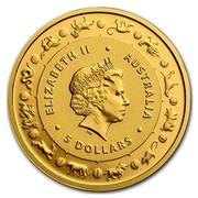 Australia 5 Dollars Year of the Rooster 2017 ELIZABETH II AUSTRALIA 5 DOLLARS IRB coin obverse