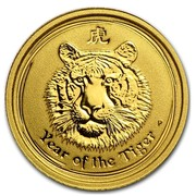 Australia 5 Dollars Year of the Tiger 2010 YEAR OF THE TIGER P coin reverse