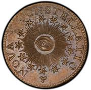 USA 5 Units 1783 KM# EA12 Nova Constellatio NOVA • CONSTELLATIO coin obverse