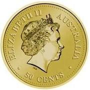 Australia 50 Cents Bronze Lunar Dog 2006  ELIZABETH II AUSTRALIA 50 CENTS coin obverse