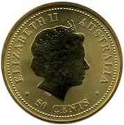Australia 50 Cents Bronze Lunar Pig 2007  ELIZABETH II AUSTRALIA IRB ∙ 50 CENTS ∙ coin obverse