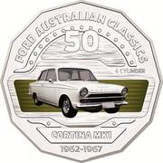 Australia 50 Cents Cortina MK1 2017 FORD AUSTRALIAN CLASSICS 4 CYLINDER CORTINA MK1 1962-1967 50 coin reverse