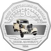 Australia 50 Cents Model 40 Utility 2017 FORD AUSTRALIAN CLASSICS 8 CYLINDER MODEL 40 UTILITY 1934 50 coin reverse