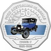 Australia 50 Cents Model T 2017 FORD AUSTRALIAN CLASSICS 4 CYLINDER MODEL T 1925-1928 50 coin reverse