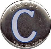 Canada 50 Cents Montreal Canadiens Centennial 2009  CANADA 1909-2009 coin reverse