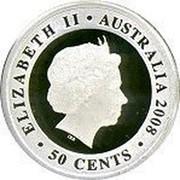 Australia 50 Cents Proclamation Shilling 2008 Proof ELIZABETH II*AUSTRALIA 2008 IRB 50 CENTS coin obverse
