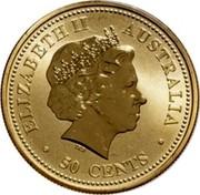 Australia 50 Cents The Queen's 80th Birthday 2006 ELIZABETH II AUSTRALIA 50 CENTS coin obverse