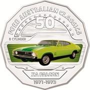Australia 50 Cents XA Falcon 2017 FORD AUSTRALIAN CLASSICS 50 8 CYLINDER XA FALCON 1971-1973 coin reverse
