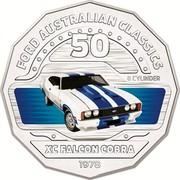 Australia 50 Cents XC Falcon Cobra 2017 FORD AUSTRALIAN CLASSICS 50 8 CYLINDER XC FALCON 1978 coin reverse