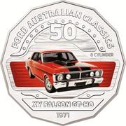 Australia 50 Cents XY Falcon GT-HO 2017 FORD AUSTRALIAN CLASSICS 50 8 CYLINDER XY FALCON GT-HO 1971 coin reverse