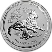 Australia 50 Cents Year of the Dog 2018 YEAR OF THE DOG P IJ coin reverse