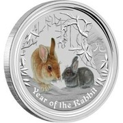 Australia 50 Cents Year of the Rabbit (Colorized) 2011 P KM# 1474a P YEAR OF THE RABBIT coin reverse