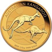 Australia 50 Dollars Australian Kangaroo 2018 AUSTRALIAN KANGAROO 2018 1/2 OZ 9999 GOLD P NH coin reverse