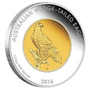 Australia 50 Dollars Australian Wedge-Tailed Eagle 2016 P KM# 2222 AUSTRALIAN WEDGE-TAILED EAGLE 1/2 OZ 999 SILVER 1/2 OZ 999 GOLD 2016 coin reverse