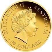 Australia 50 Dollars Discover Australian - Dolphin 2009 KM# 1228 ELIZABETH II AUSTRALIA 50 DOLLARS IRB coin obverse