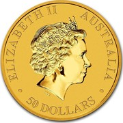 Australia 50 Dollars Kangaroo 2014 KM# 2125 ELIZABETH II AUSTRALIA 50 DOLLARS IRB coin obverse