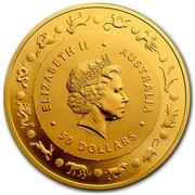 Australia 50 Dollars Lunar Rooster 2017 ELIZABETH II AUSTALIA 50 DOLLARS IRB coin obverse