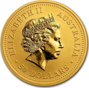 Australia 50 Dollars Nugget at the Sunrise 2007 ELIZABETH II AUSTRALIA 50 DOLLARS IRB coin obverse