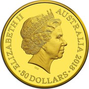 Australia 50 Dollars Reconciliation 2018 ELIZABETH II AUSTRALIA 2018 50 DOLLARS IRB coin obverse
