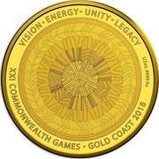 Australia 50 Dollars Reconciliation 2018 VISION ∙ ENERGY ∙ UNITY ∙ LEGACY 1/2 OZ .9999 AU XXI COMMONWEALTH GAMES ∙ GOLD COAST 2018 coin reverse