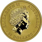 Australia 50 Dollars Resting Kangaroo 2016 ELIZABETH II AUSTRALIA 50 DOLLARS IRB coin obverse